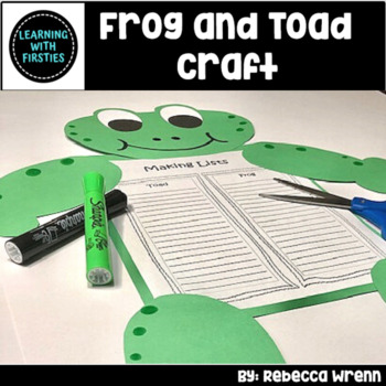 Frog and Toad Craftivity