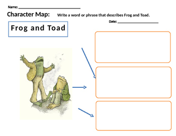 Frog and Toad Together Character Map