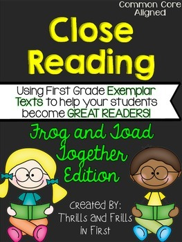Close Reading with Frog and Toad Together