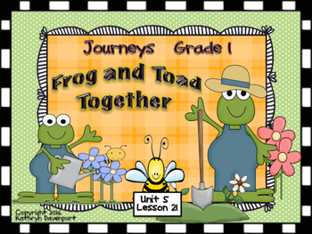 Frog and Toad Together Journeys Unit 5 Lesson 21