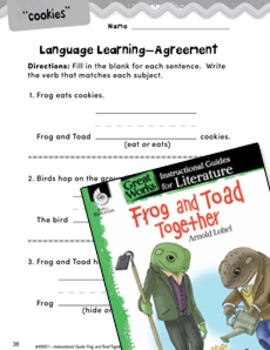 Frog and Toad Together Language Learning Activities
