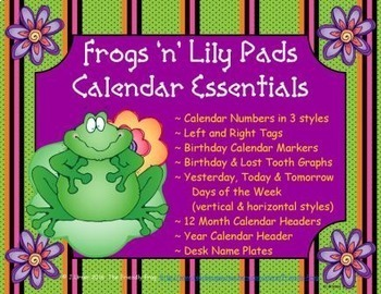 Frog 'n' Lily Pads Calendar Essentials