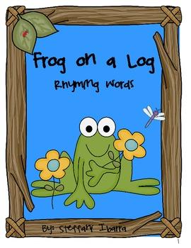 Frog on a Log Rhyming Words