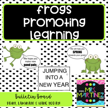 Frog theme bulletin board to promote learning!