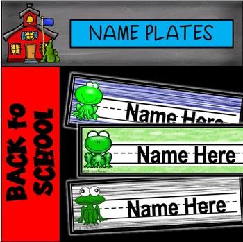 Frog Name Plates