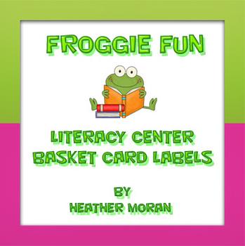 Froggie Fun Literacy Center Station Cards