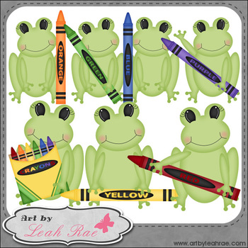Froggie Learns Colors 1 - Art by Leah Rae Clip Art & Line