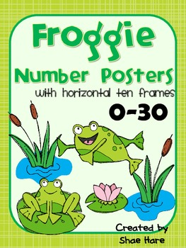 Froggie Number Posters to 30 {Common Core Math} Frog with