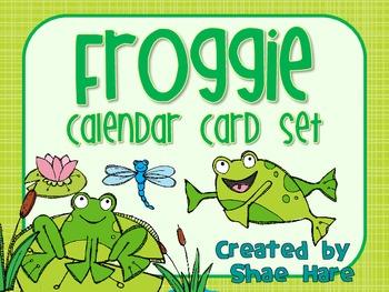 Froggie Themed Calendar Cards {frog pond} {Morning Math} N