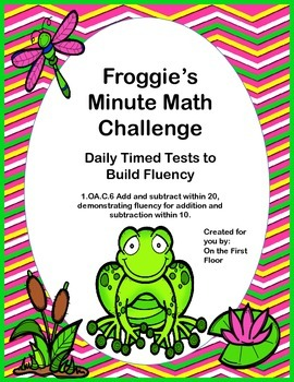 Froggie's Minute Math Challenge-Daily Timed Tests to Build