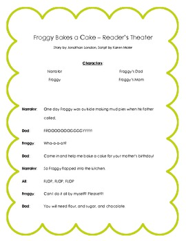 Froggy Bakes a Cake Reader's Theater