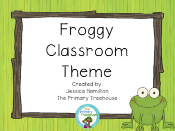 Froggy Classroom Theme Decor - EDITABLE!