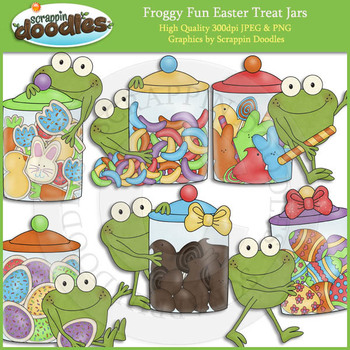 Froggy Fun Easter Treat Jars
