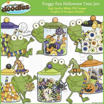 Froggy Fun Halloween Treat Jars