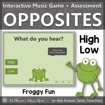 Froggy Fun with High and Low + Assessment (Interactive Mus