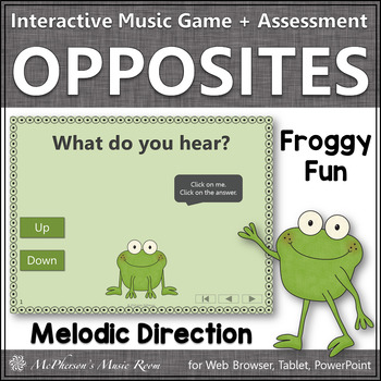 Froggy Fun with Melodic Direction Up Down + Assessment (In