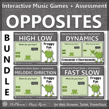 Froggy Fun with Music Opposites Bundle of Interactive Musi