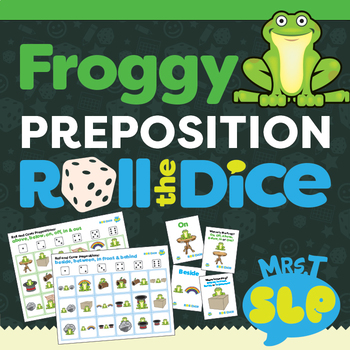 Froggy Prepositions: Roll a Dice Games/Activities