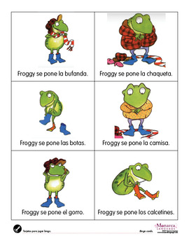 Froggy Se Viste Printable Clothing Games in Spanish