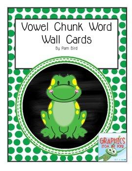 Froggy Vowel Word Wall Chunks