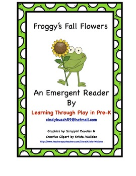 Froggy's Fall Flowers Emergent Reader