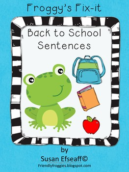 Daily Oral Language - Froggy's Fix-it! Morning Work -  Bac