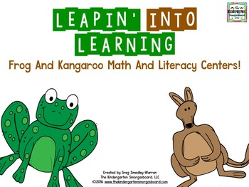 Frogs And Kangaroos!  Leapin Into Learning!  Leap Day Centers!