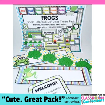 Frog Theme: Frogs Classroom Decor Basics: Frogs Theme Class Decor