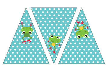 Frogs Pennant Banner