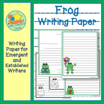 Frogs Writing Paper for Emergent and Established Writers