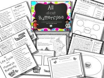 Frogs and Butterflies Bundled Language Arts Units - CCSS Aligned!