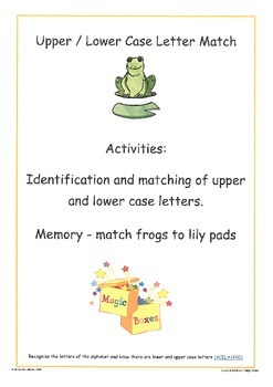Frogs and Lily Pads UPPER/lower case matching