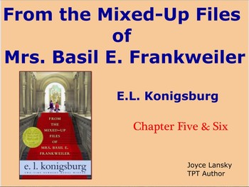 From The Mixed Up Files of Mrs. Basil E Frankweiller Ch. 5