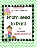 From Seed To Plant by Gail Gibbons-Complete Book Journal,