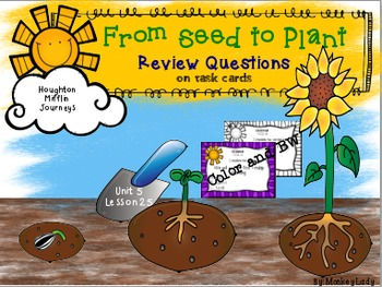 From Seed to Plant Review Task Cards for Houghton Mifflin