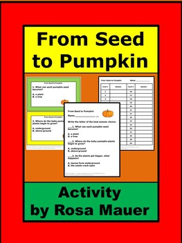 From Seed to Pumpkin Literacy Unit