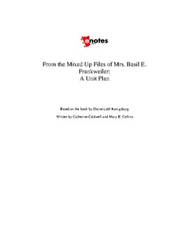 From the Mixed Up Files of Mrs. Basi E. Frankweiler Unit L