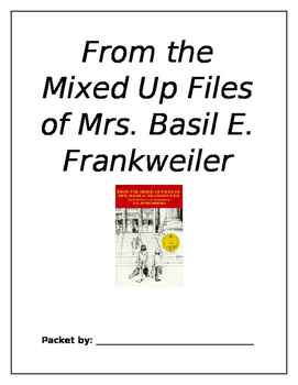 From the Mixed Up Files of Mrs. Basil E. Frankweiler (Nove