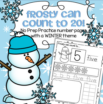Winter Number Practice Pages