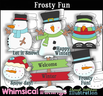 Frosty Fun Snowman Clipart Collection