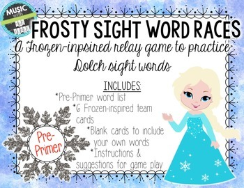 Frosty Sight Word Races: A Frozen -inspired relay game for