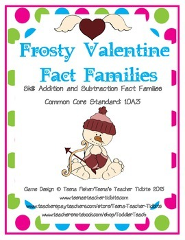 Valentine's Day Addition & Subtraction Fact Families