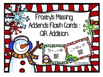 Frosty's Missing Addends Flash Cards: QR Addition