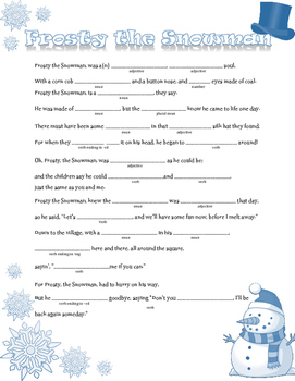 Frosty the Snowman: A Winter Madlib