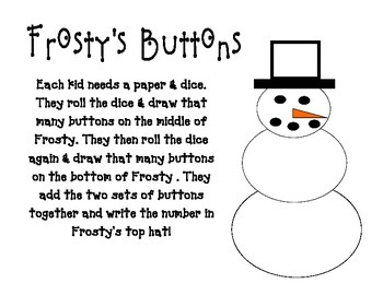 Frosty's Buttons (A Christmas Math Game)