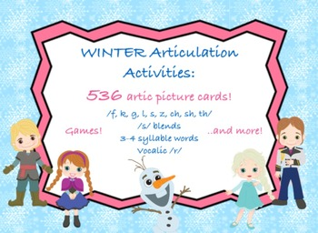 Frozen Articulation Activities