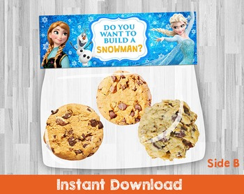 Frozen Birthday Party Favor Bag Toppers. Featuring Elsa, A