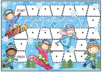 Frozen Blank Board Game (EDITABLE)