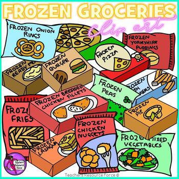 Frozen Groceries clip art