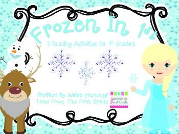 Frozen In 1st-  5 Reading Activities for 1st graders